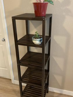 IKEA Molger Shelving Unit, Dark Brown- 5 Shelves Perfect For Plants, Accessories, Towels ++ for Sale in Wilsonville,  OR