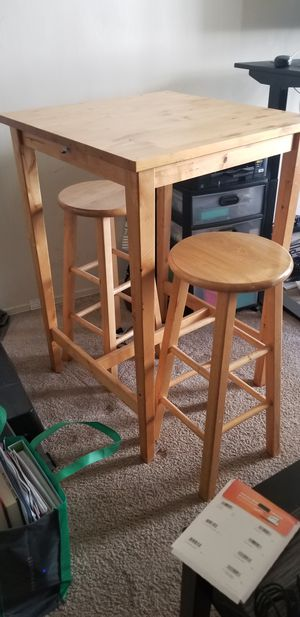 IKEA Bjorkudden Bar Table with stools or standing up desk for Sale in Redondo Beach, CA