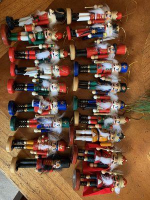 Box of 19 Nutcracker Wooden Ornaments for Sale in Azusa, CA