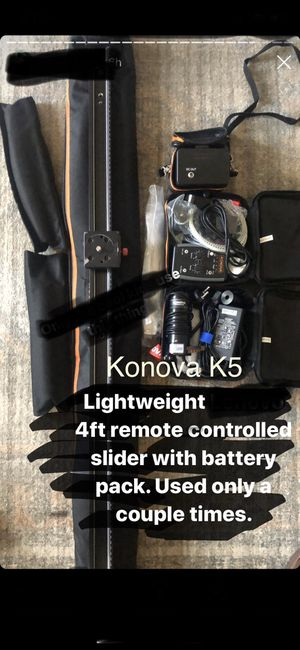 Konova K5 camera slider with remote controller for Sale in Redondo Beach, CA