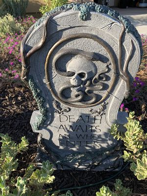 Halloween Resin Tombstone for Sale in Temecula, CA