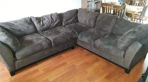 sectional brown couch 2 peice for Sale in Hanover Park, IL
