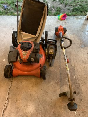 Husqvarna lawn mower, Weed eater and ryobi saw for Sale in Seattle, WA