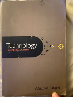 Technology A reader for writers by Johannah Rodgers for Sale in Los Angeles, CA