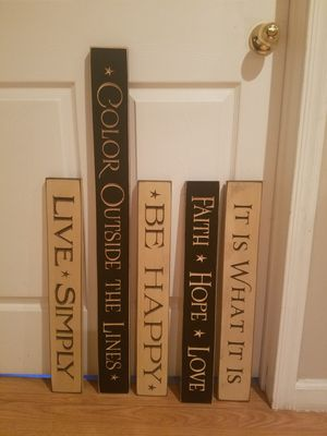 Wood decor Signs - brand new - carved not painted - home decor - Quotes for Sale in Piscataway, NJ