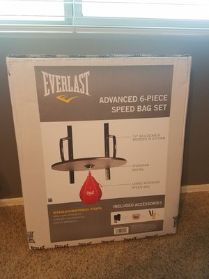 Everlast speed bag 6 piece set for Sale in Surprise, AZ