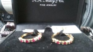 14k yellow gold ruby and diamond earrings for Sale in Las Vegas, NV
