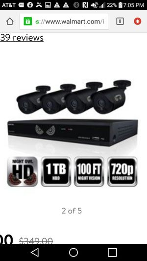 Night Owl Wired Security System w/ 4 cameras for Sale in Norwich, CT