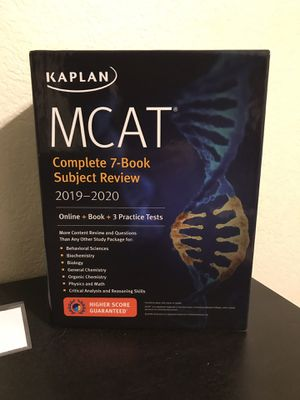 Kaplan 7 set mcat books with 3 practice tests for Sale in Tempe, AZ