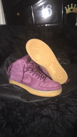 "Air Force 1 High WB GS 'Bordeaux' 6.5Y ""Purple"" still have box and worn once 💜 for Sale in Clarksburg, MD"