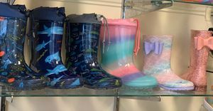 Rain boots for kids sizes available 11,12,13,1,2,3,4 for Sale in South Gate, CA