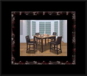 Marble tall table with 4 leather chairs for Sale in Manassas, VA