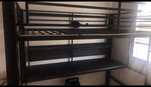 Full bed bunk bed with desk underneath for Sale in West Jordan, UT