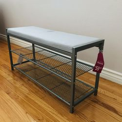 neatfreak Fabric Upholstered Shoe Storage Bench for Sale in Whittier,  CA