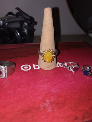 Yellow sterling ring for Sale in New Franklin, OH
