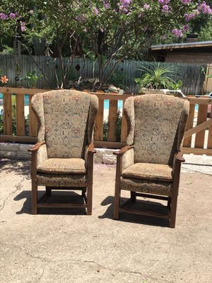 Antique High Back Chairs for Sale in Dallas, TX