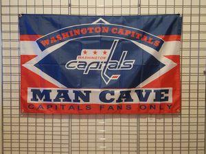 WASHINGTON CAPITALS 3FTX5FT NHL MAN CAVE FLAG *NEW🔥 for Sale in Manassas, VA
