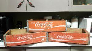 Antique wooden coca cola crates for Sale in West Monroe, LA