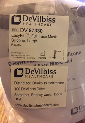 DeVilbiss DV 97330 EasyFit Full Face Mask Silicone Large for Sale in Johnsburg, IL