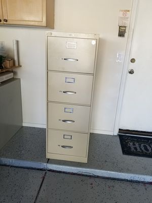 Anderson Hickey Tan, Metal, 4 Drawer, File Cabinet for Sale in Phoenix, AZ