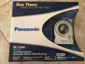 Panasonic BL-C30A Wireless / Wired Network Camera. Remote Video Monitoring for Sale in Henderson, NV