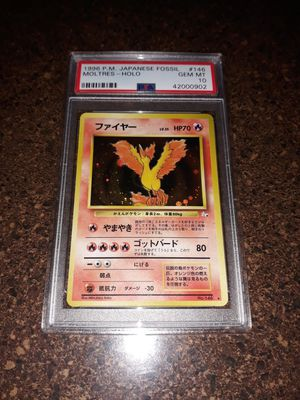 Pokemon Moltres Japanese Mystery of the Fossil PSA10 GEM Mint for Sale in Queens, NY
