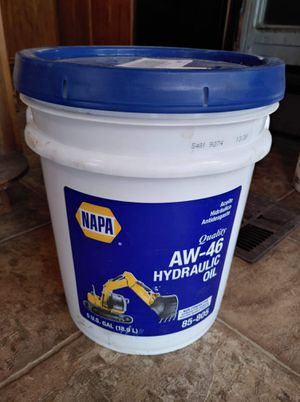 5 gallons of new aw46 hydraulic fluid for Sale in Bixby, OK