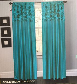 Curtains - Teal Color NEW!! for Sale in Lake Elsinore, CA