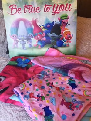 Trolls toddler bed set for Sale in Vancouver, WA