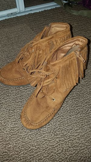 Brown fringe boots for Sale in Cheshire, CT