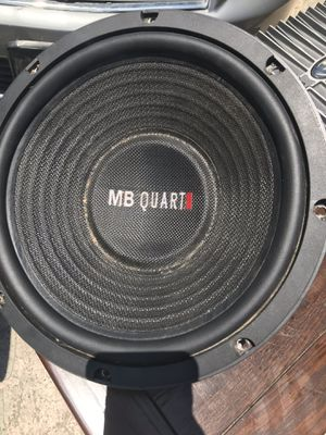 Rockford Fosgate Thousand watt amp and two 12 inMB Quart subwoofers for Sale in Corpus Christi, TX