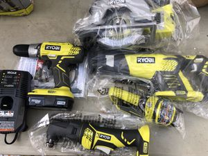 Ryobi 18-Volt Lithium-Ion Combo Power Tool Kit x5 for Sale in St. Petersburg, FL