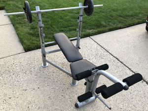 Powerhouse 675 Bench Press with 170 lbs of Weight for Sale in Mount Laurel Township, NJ