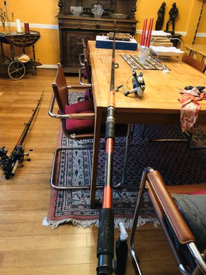 fishing rod and reel mako mak-70A super long for Sale in Fort Washington, MD