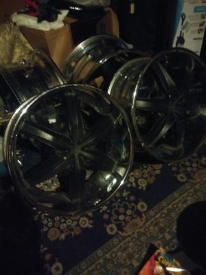 2o inch rims/3 inch crome lip no tires...looking 2 trade for Sale in Cogan Station, PA