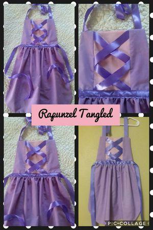 Disney Princess Rapunzel Tangled Princess Dress Up Apron 3 Sizes New Handmade for Sale in St. Louis, MO