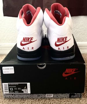 Brand new authentic Jordan 5 Fire Red with original box. Size 13. for Sale in Orlando, FL