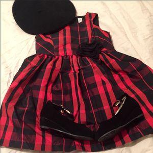 NWOT Girl 3T Cherokee Red & Black Plaid Formal Dress for Sale in Bountiful, UT