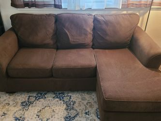 Dark Brown Reversible Sectional Couch for Sale in Vallejo,  CA