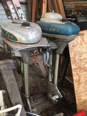 2- 1946 Evinrude Zephyr 5.4 hp 4 cylinder 2 stroke outboard Motors $500 obo for Sale in Vancouver, WA
