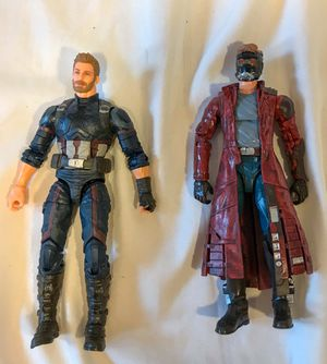 Marvel Legends (Captain America Infinity War/Star Lord Guardians of the Galaxy) for Sale in Kissimmee, FL