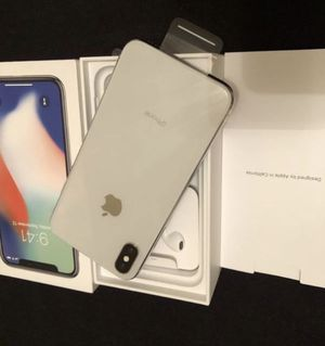 Apple iPhone X silver Brand new unlocked bonus new case and screen protector I can meet and deliver for Sale in Fremont, CA