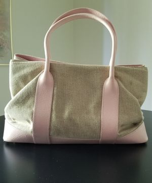 Tiffany and Company Pink Leather and Canvas Bag for Sale in Spokane, WA