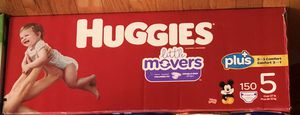 huggies little mover size 5(150piece)costco for Sale in Brooklyn, NY