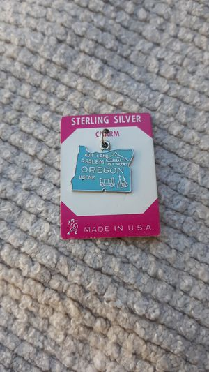 Oregon Vintage Sterling Silver Charm for Sale in Chandler, AZ