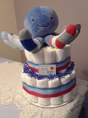 Boy's diaper cake for Sale in Fort Lauderdale, FL