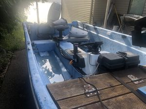 14' Livingston with trailer and 50hp center console for Sale in Gig Harbor, WA