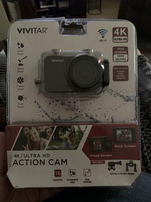 Vivitar 4k Action Camera Black for Sale in Oshkosh, WI