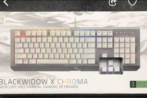 Razor Black Window Chroma Mechanical Gaming Keyboard: New Sealed for Sale in Litchfield Park, AZ
