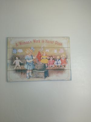 BRAND NEW LARGE WOOD WALL PICTURE PLAQUE for Sale in Tulare, CA